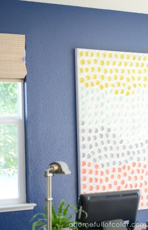 painted baking cup wall art (A Home Full of Color)