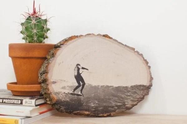 photo printed on a wood slice (ehow)