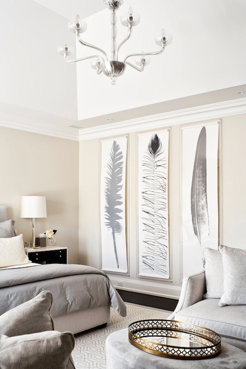 tall feather art, large DIY wall decor (via DecorPad)
