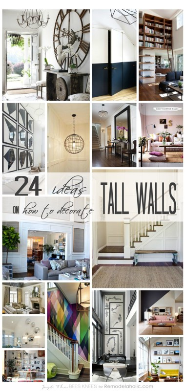 """24 Ways to Decorate Tall Walls 
