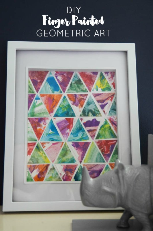 toddler finger paint geometric art diy (via Honest to Nod)