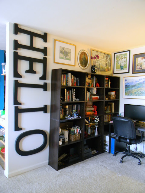 Wall Art, Large Letters (Pikeu0027s Place Blog)