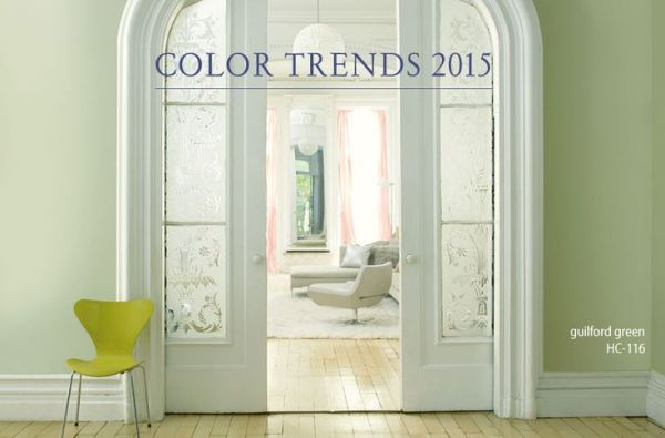 2015 Color of the Year from Benjamin Moore Guilford Green. Remodelaholic