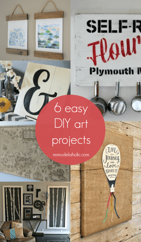Give your walls some extra style in a jiffy with these easy DIY art projects.