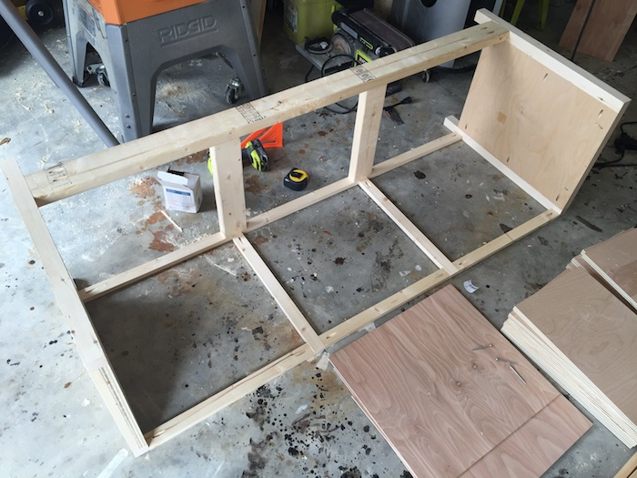 DIY Printmakers Media Console Plans - Step 5
