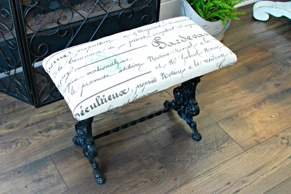 French-Wrought-Iron-Bench-Makeover