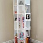 Octagon rotating bookshelf hertoolbelt filled
