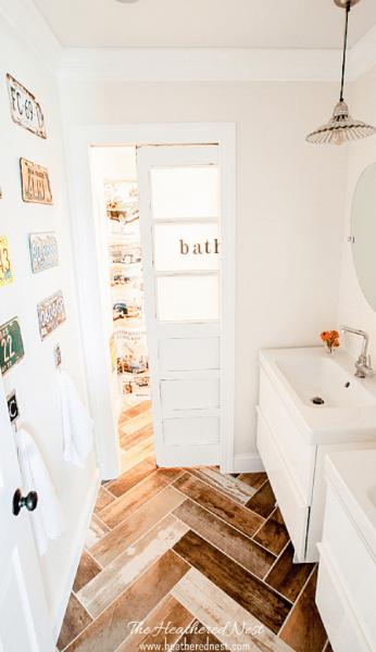TheHeatheredNest bathroom renovation