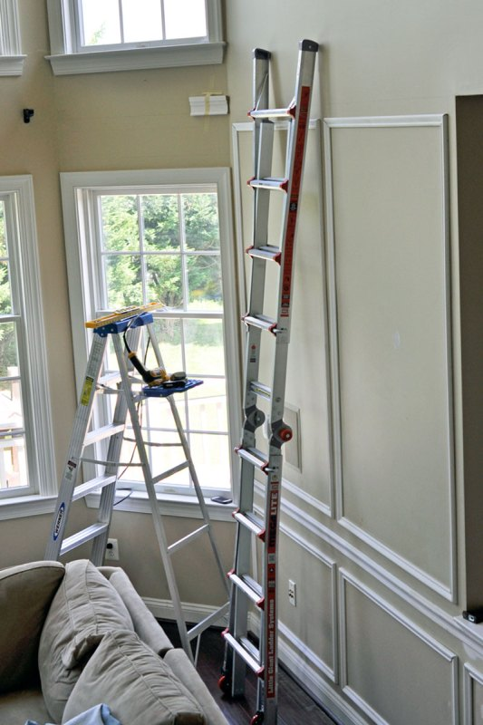 This DIYer taught herself how to install trim and then did her whole house and it looks AMAZING! Tips and Tricks for Installing Trim and Wainscoting --