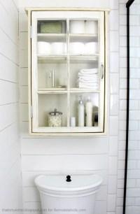 Remodelaholic | Bathroom Storage Cabinet using an old Window