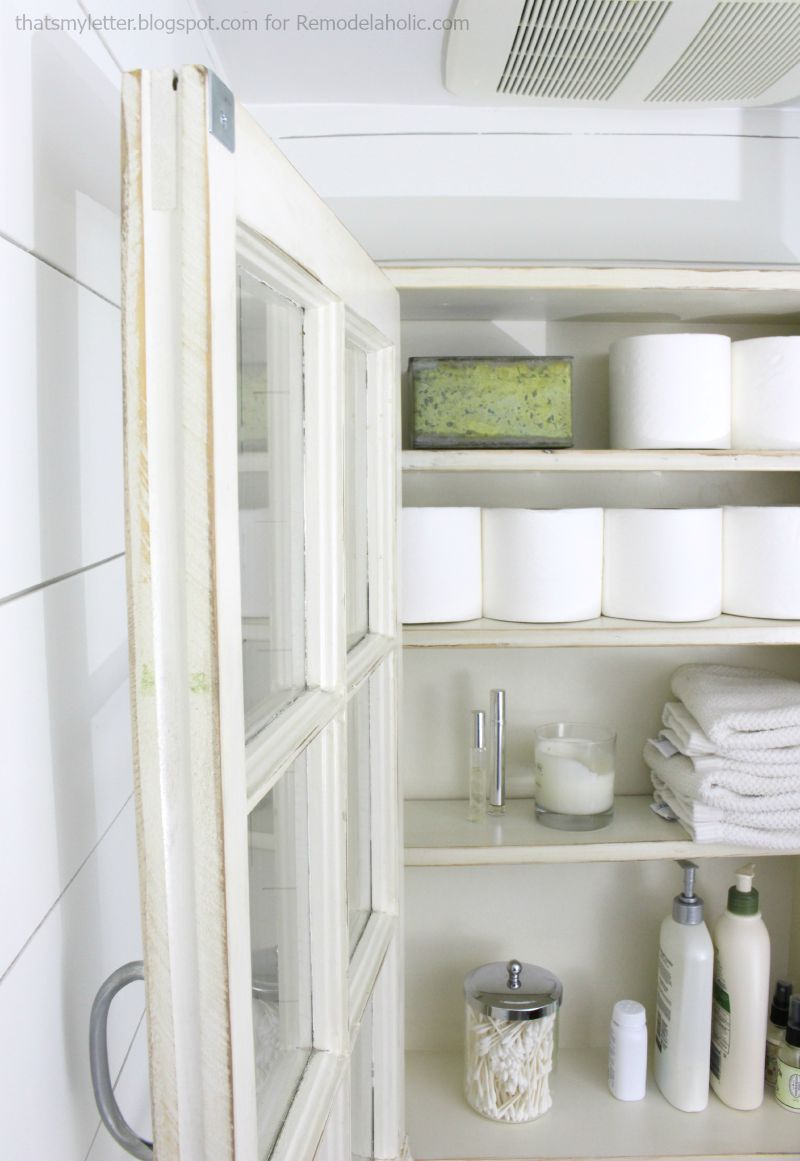 bathroom storage cabinet opne