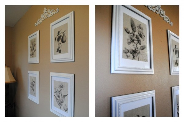 botanical prints using dropcloth