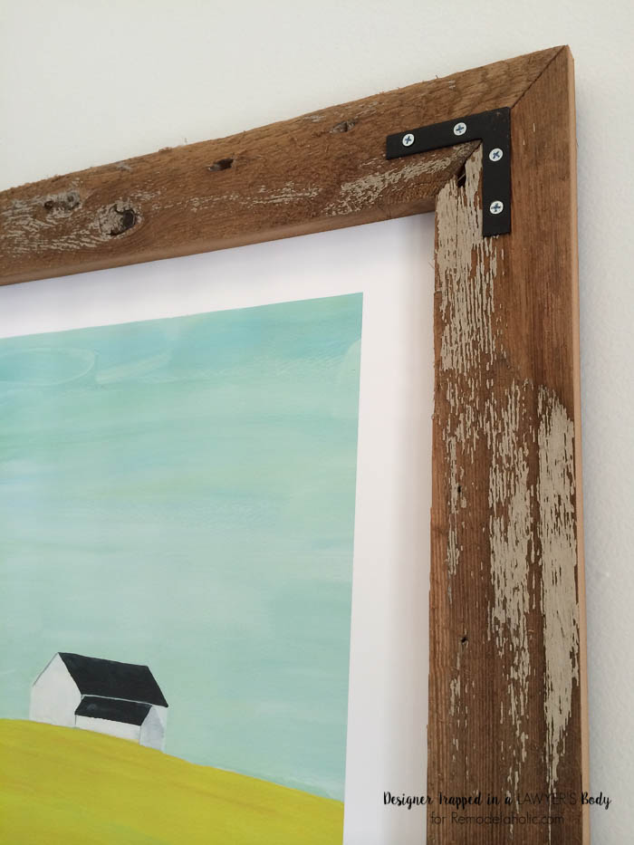 LOVE these simple and stunning DIY rustic wood art frames! Full tutorial by Designer Trapped in a Lawyer's Body for Remodelaholic.com.