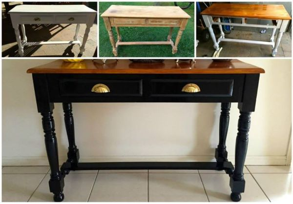 from melissa - console table makeover