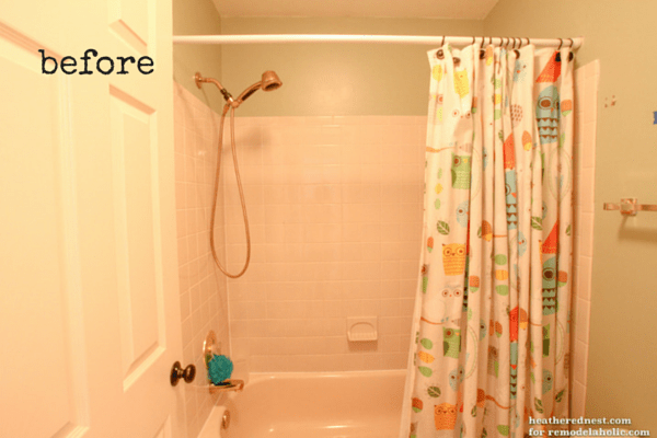 remodelaholic how to update a tile shower tub in a weekend