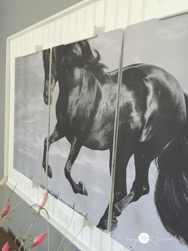 side close up of triple framed horse, MyLove2Create