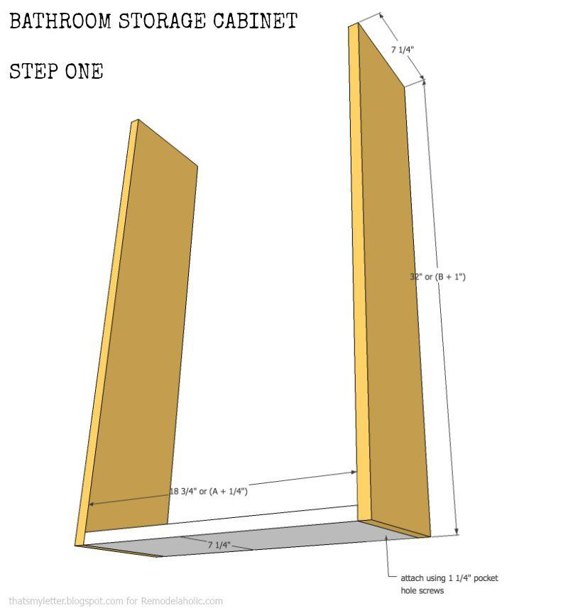 window cabinet step 1