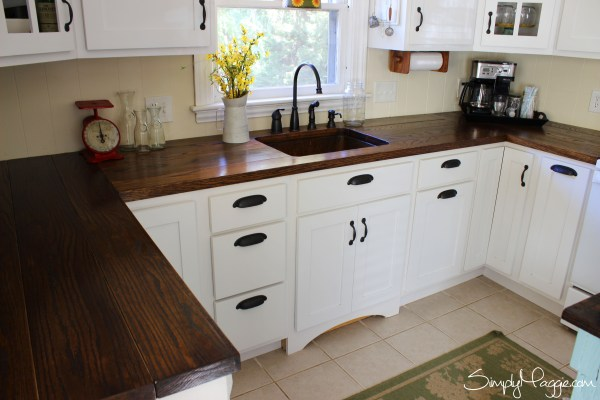 Amanda Simply Maggie diy wide plank wood countertop review