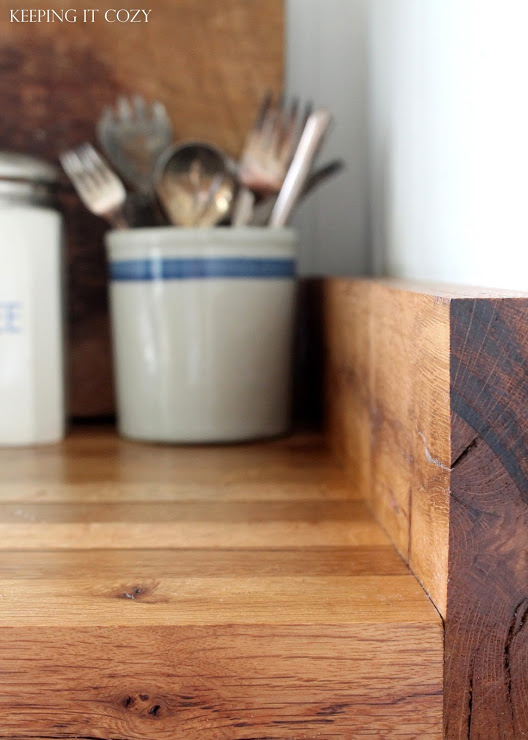 Andrea Keeping It Cozy reclaimed wood countertop review DIY