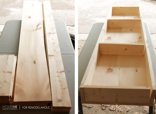 Assembling bench base - HMC for Remodelaholic