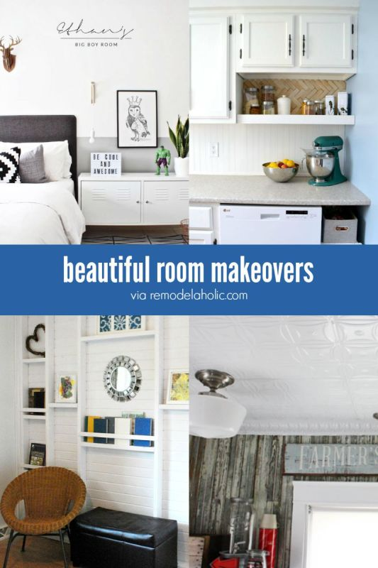 These beautiful room makeovers will give you some inspiration for giving your room a facelift! Great DIY ideas!