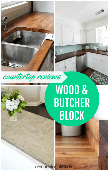 DIY Butcher Block and Wood Countertop Reviews @Remodelaholic