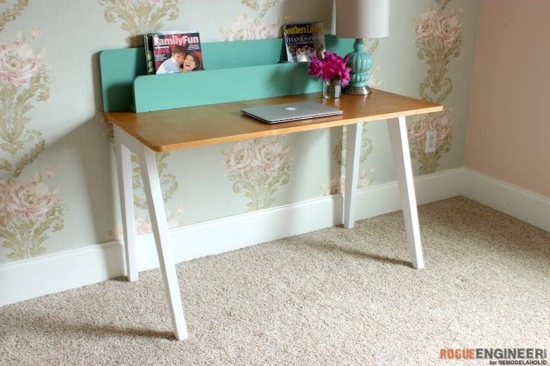 DIY Modern Lindsay Desk - Rogue Engineer 4