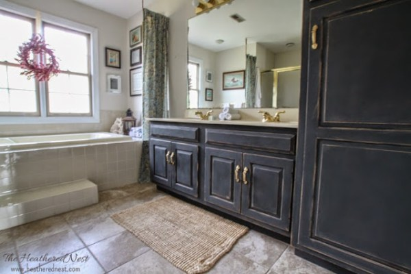 Heather The Heathered Nest DIY painted bathroom cabinet review