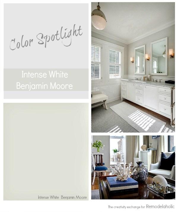 Intense White by Benjamin Moore. Color Spotlight on Remodelaholic