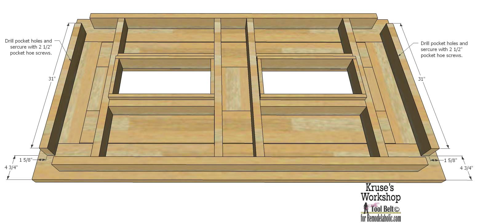 Free plans for the perfect table for your patio, it has built in ice boxes - Remodelaholic Building Plans: Patio Table With Built-in Drink Coolers