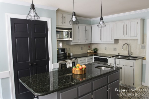 Tasha Designer Trapped diy milk painted cabinets kitchen review