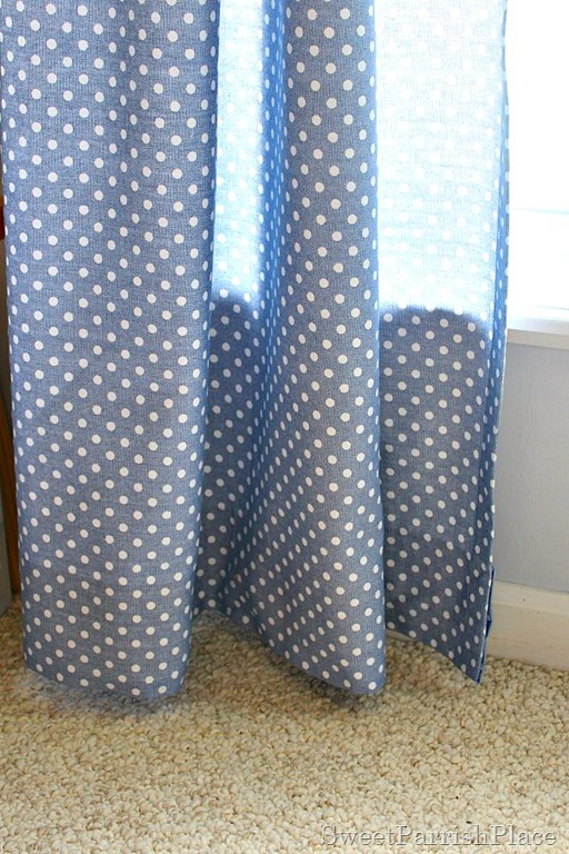 how to hem curtains without sewing Sweet Parrish Place