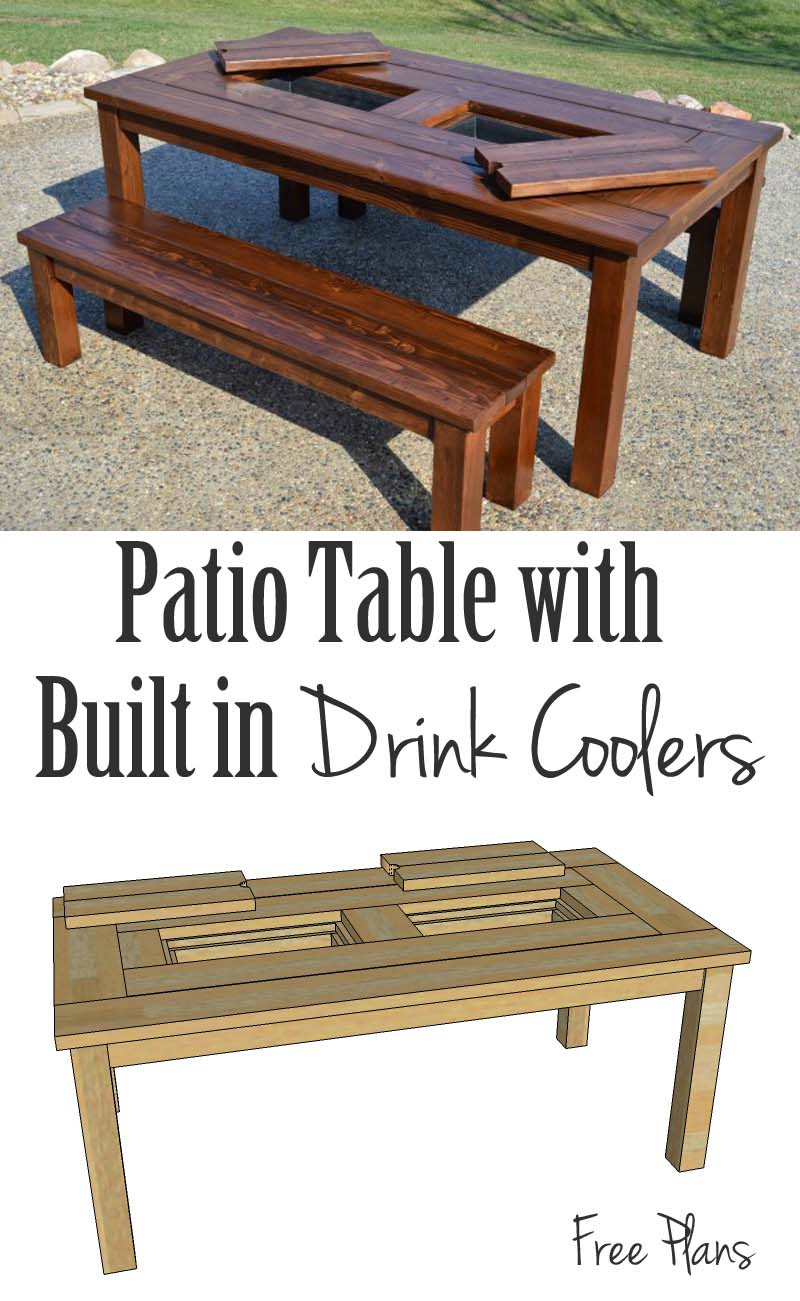 Prime Remodelaholic Building Plans Patio Table With Built In Alphanode Cool Chair Designs And Ideas Alphanodeonline