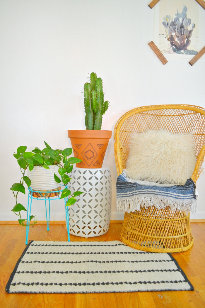 DIY embellished planter tutorial -- love this style!