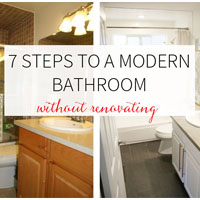 7 steps to a 7 steps to a modern bathroom without renovating on Petite Modern Lifebathroom without renovating