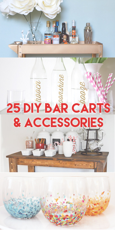 These ideas for making your own DIY bar carts and accessories will have you entertaining in style this holiday season!