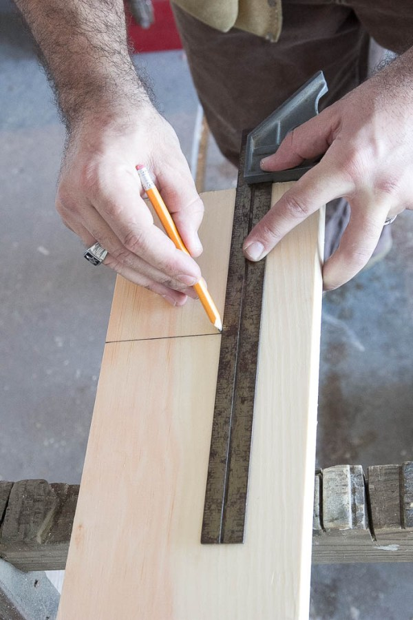 Drawing out the perfect cut for window trim featured on Remodelaholic.com