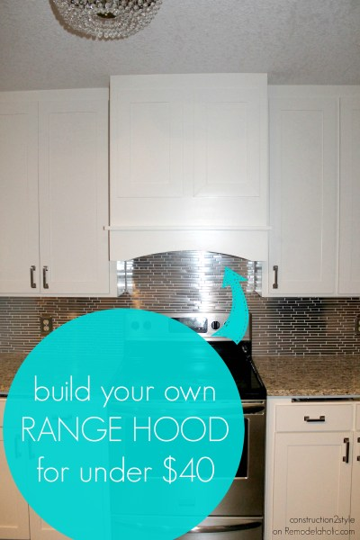 DIY kitchen range hood tutorial, construction2style on @Remodelaholic