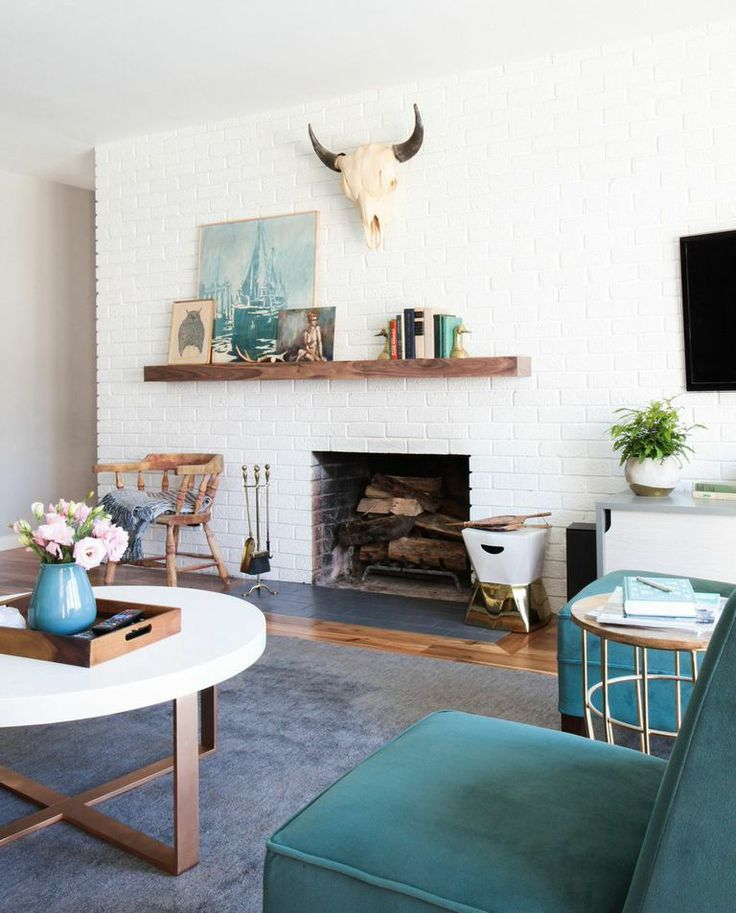 asymmetrical fireplace and mantel ideas