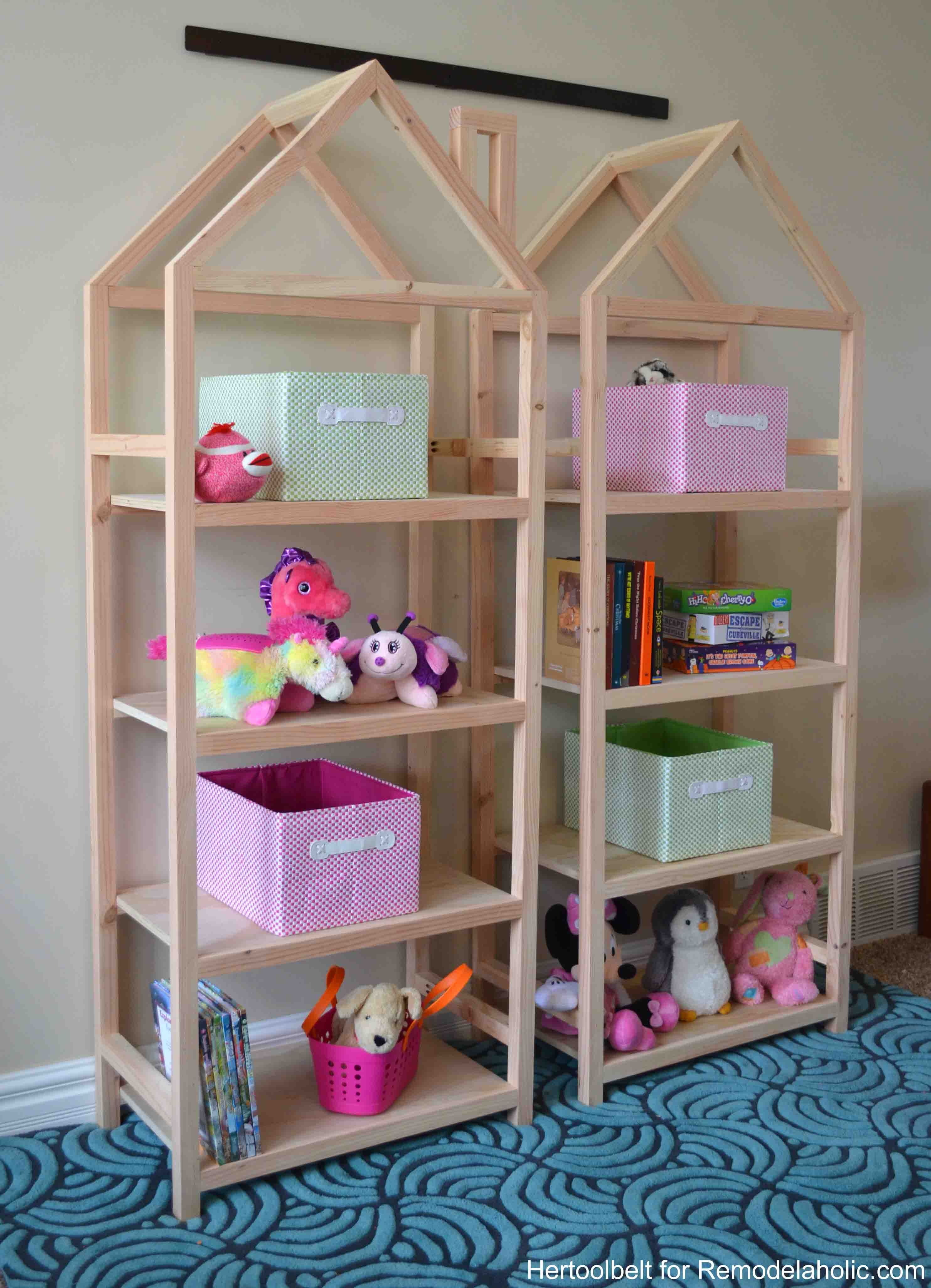 Wonderful Get Organized With These Adorable House Frame Bookshelves. Free And Easy  Plans To Build A