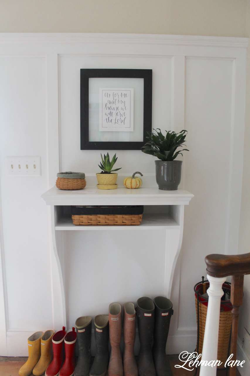 Attractive How To Build A Space Saving Built In Entryway Table    It Looks