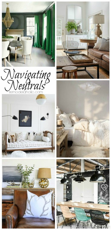 Neutral paints may seem like an easy choice in home design but beware the boring! By following a few design rules, you can avoid the blahs of neutral and make your neutrals POP!