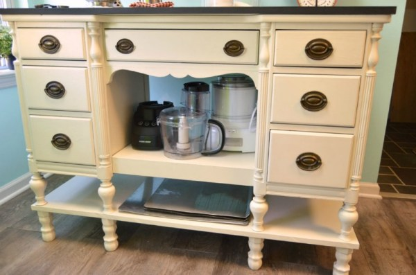 desk into kitchen island Create and Babble