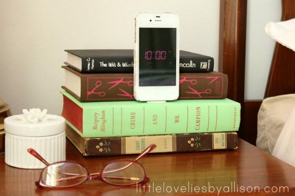 diy charging station book iphone dock