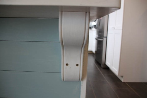 installed kitchen island corbel, The Happy Housie on @Remodelaholic
