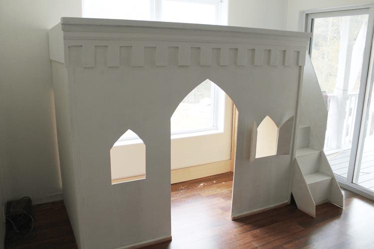 princess-castle-loft-bed