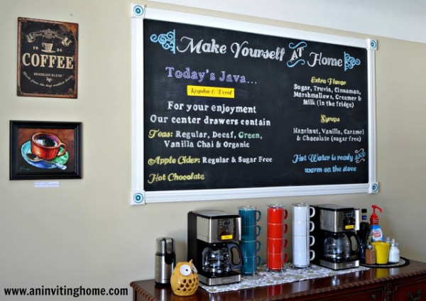 self serve bar chalkboard sign