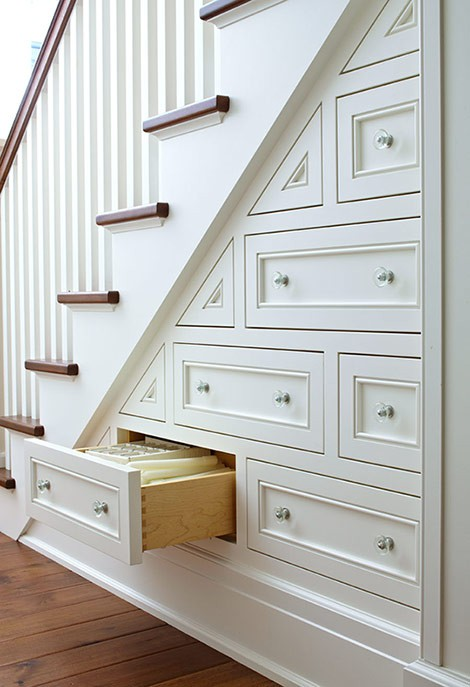 under stairs drawers Traditional Home