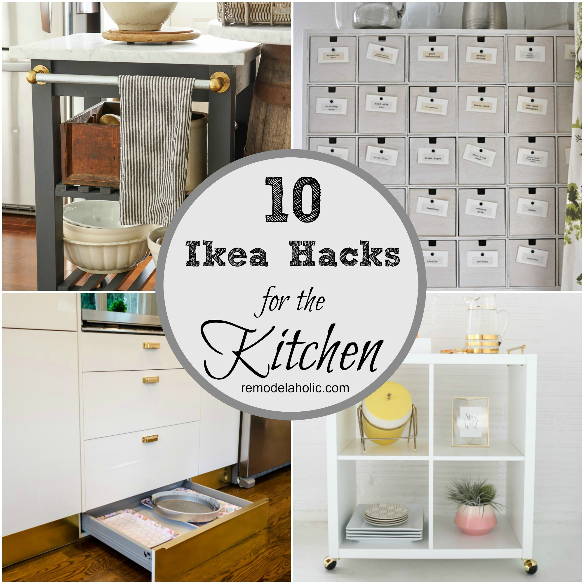kitchen storage hacks remodelaholic 10 ingenious ikea hacks for the kitchen 3149