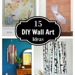 Living Room Mounted Tv Ideas For Small Remodelaholic | 15 Diy Wall Art And Tutorials